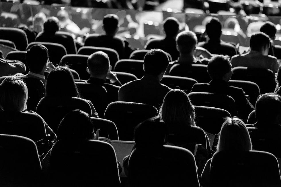 crowd in an auditorium