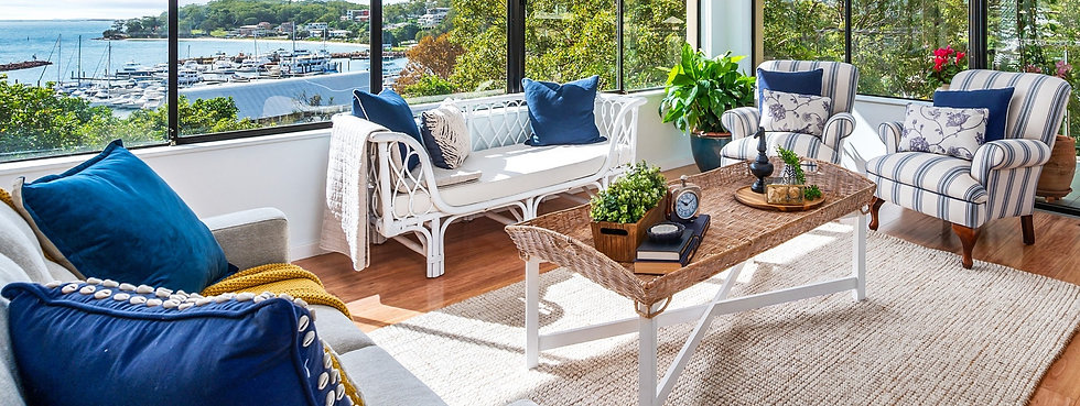 Beach chic decor luxuriously styled by home property styling
