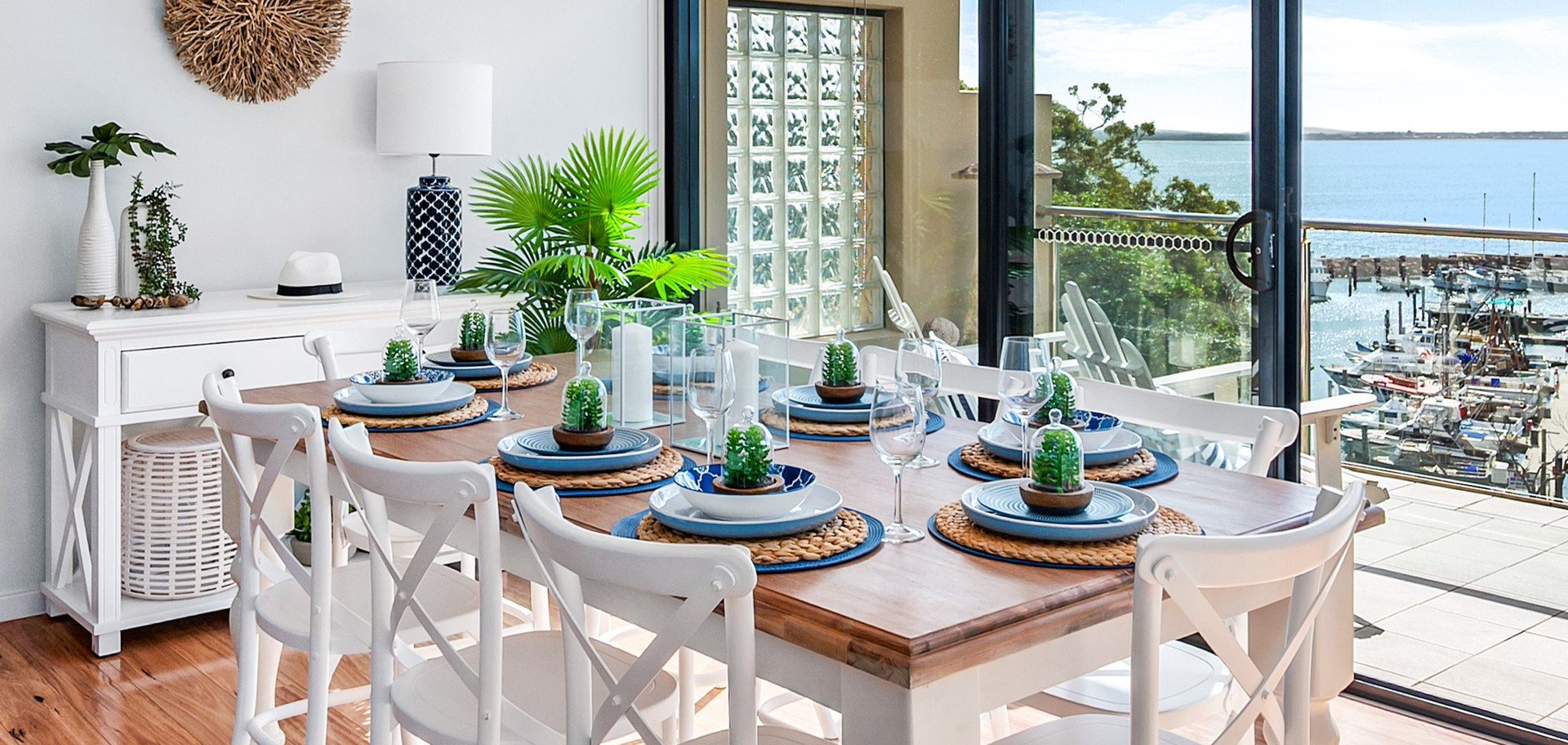 Dining table full setting Nelson Bay