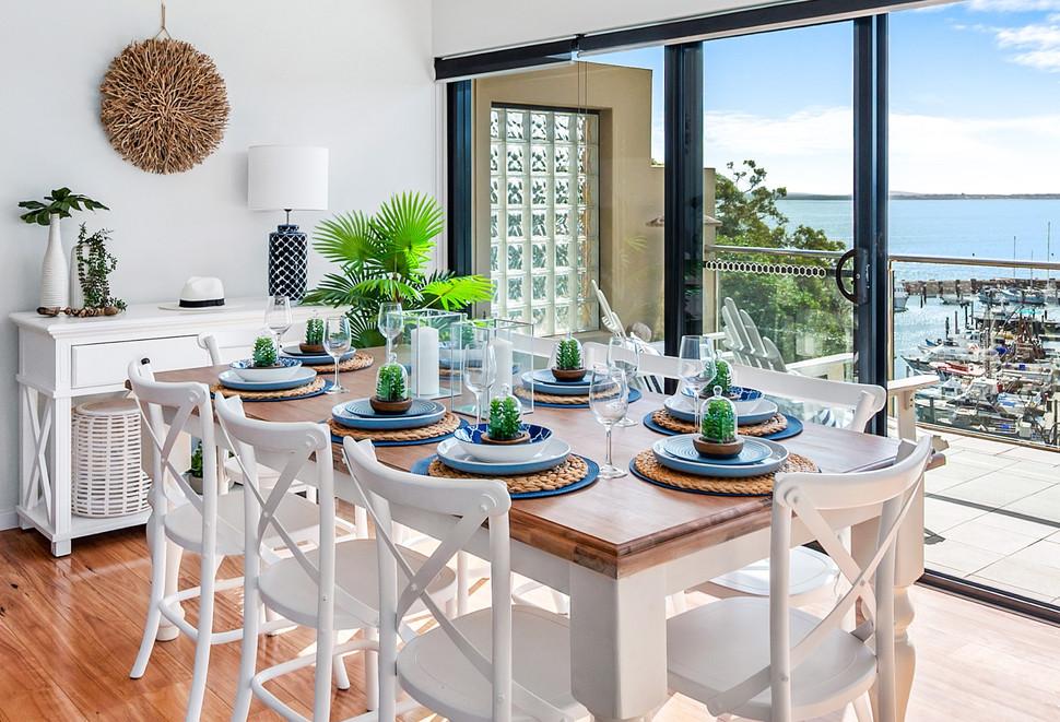 Dining table full setting Nelson Bay