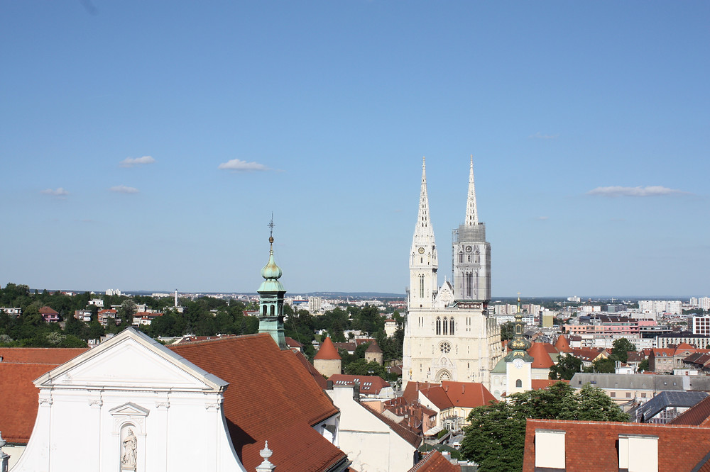 Zagreb Cathedral and St Catherine's spire