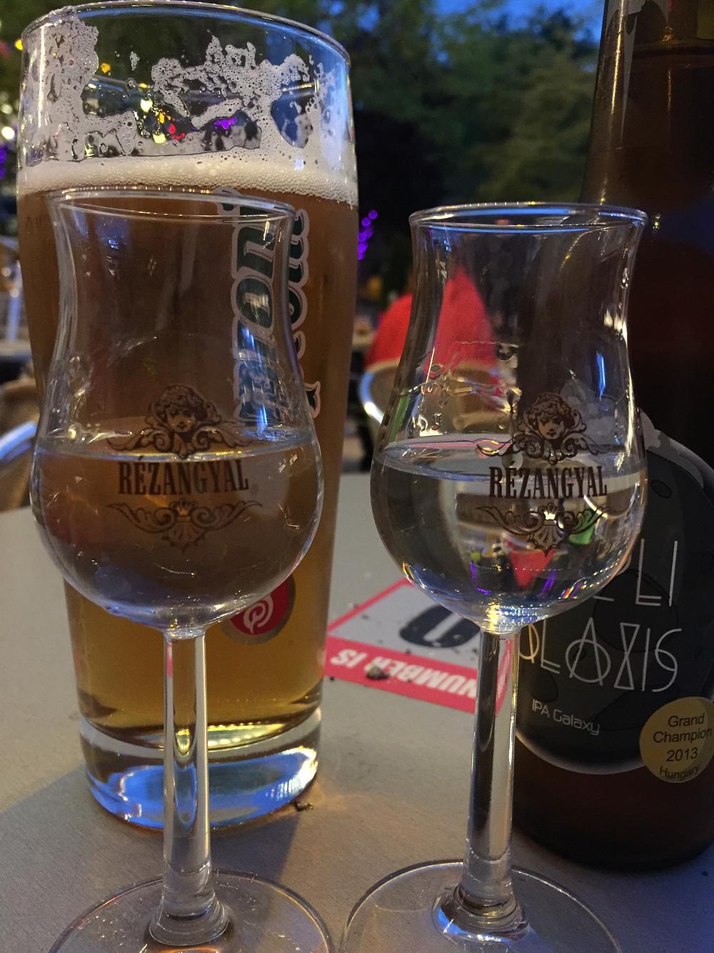 Pálinka and beer!