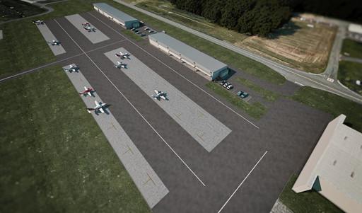 Aerial View of KOKV Hangars