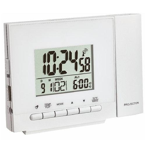 Orologio radiocontrollato con proiettore e termometro