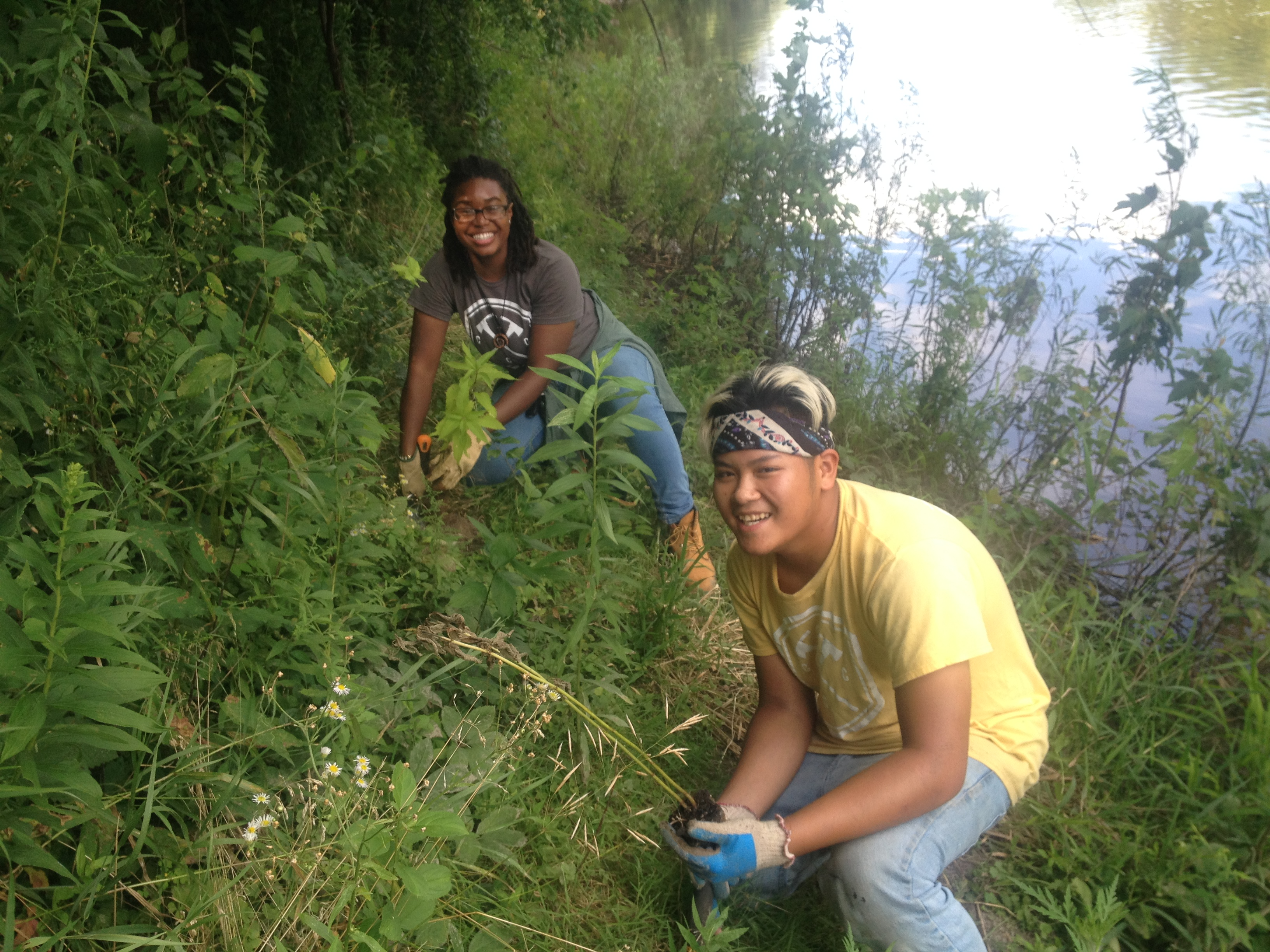 Keosha & Alex, removing invasives
