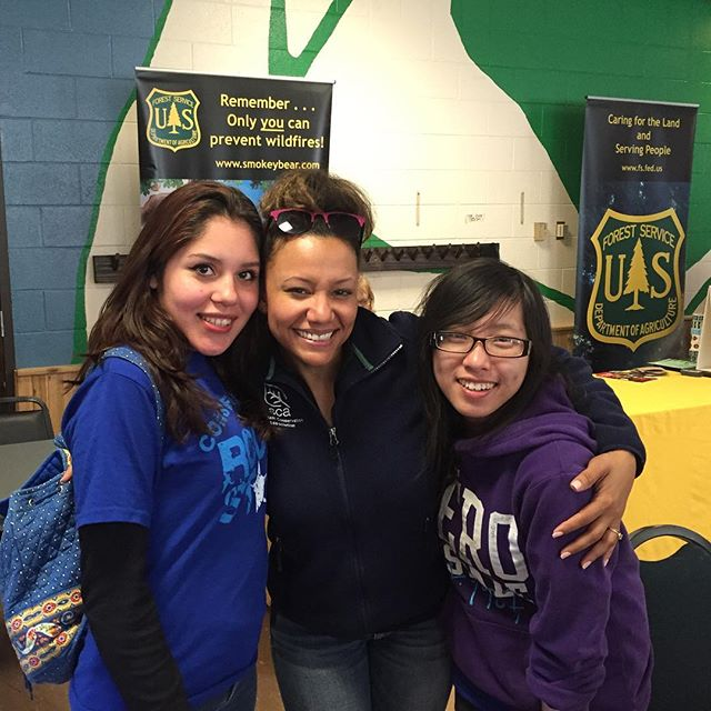 Program manager (Milwaukee) August with Crew Members Karina and Xe