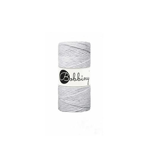 Bobbiny macrame 3mm single - Silvery Light Grey