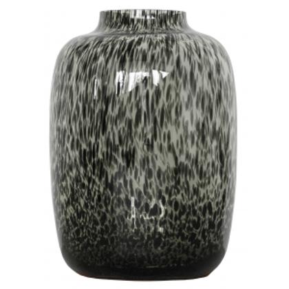 Black Cheetah Vase