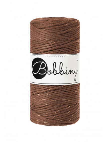 Bobbiny macrame 3mm single - Mocha Golden