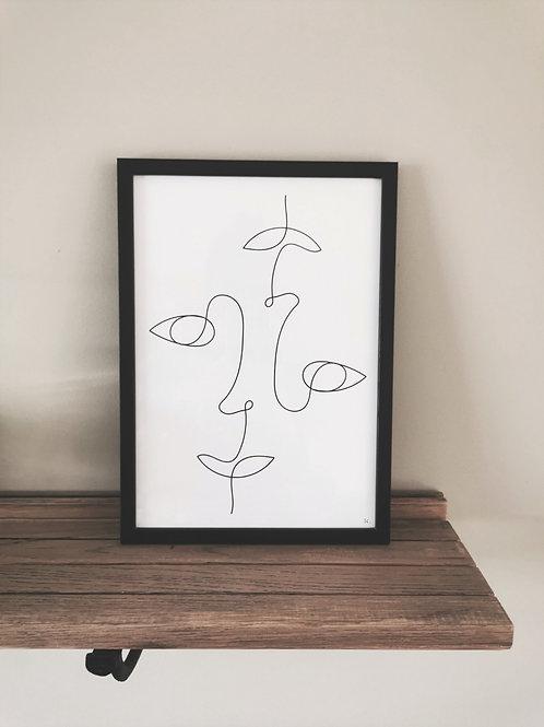 Iris Signatures Print A4 Together