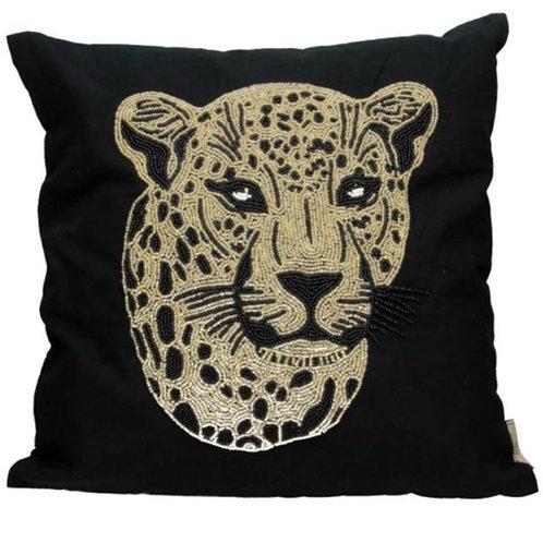 Leopard Head Beads Cushion