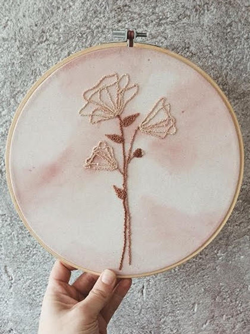Idylness Embroidery Hoop Abstract Flower