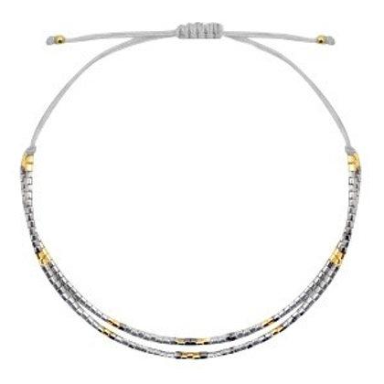 Armband 'Miyuki Beads' grijs
