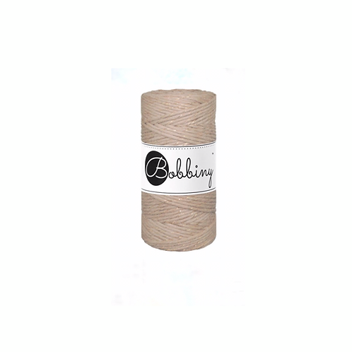 Bobbiny macrame 3mm single - Sand Gold