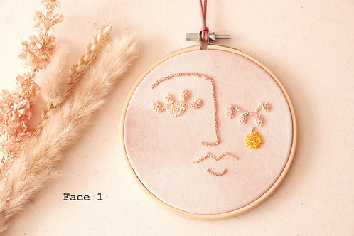 Idylness Embroidery Hoops Face