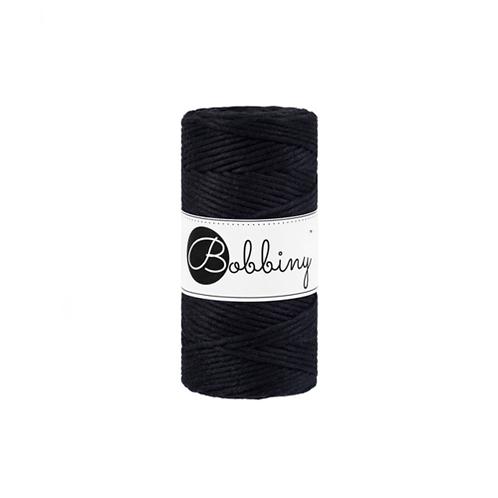 Bobbiny macrame 3mm single - Black