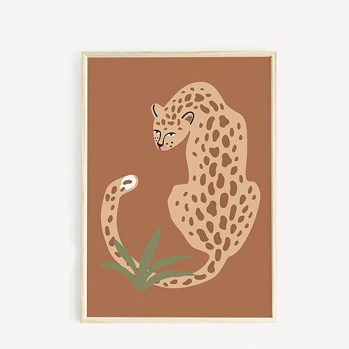 May and Fay Print A3 Cheetah