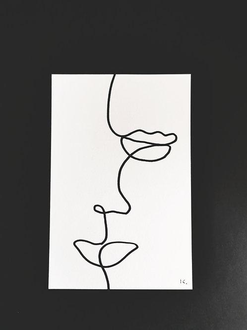 Iris Signatures Poster A6 Line art No.3
