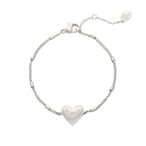 Armband 'Love To Travel' zilver