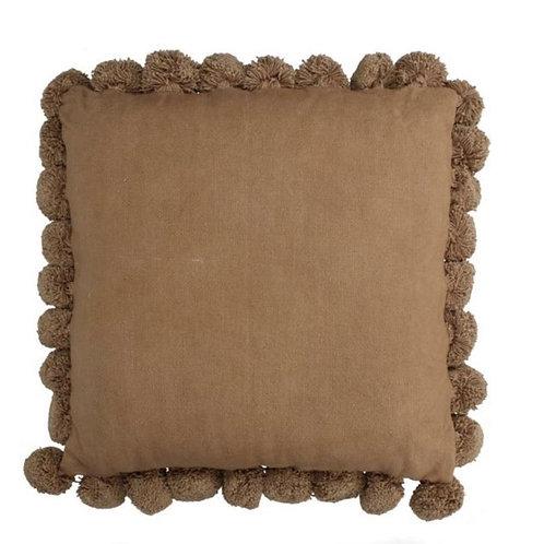 Cushion Pompoms Peach