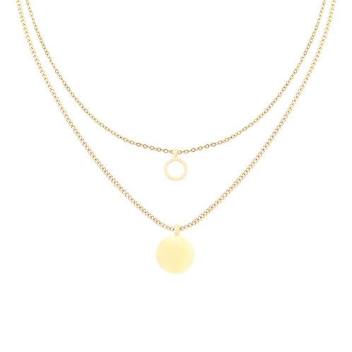 Ketting 'Two Layers' goud