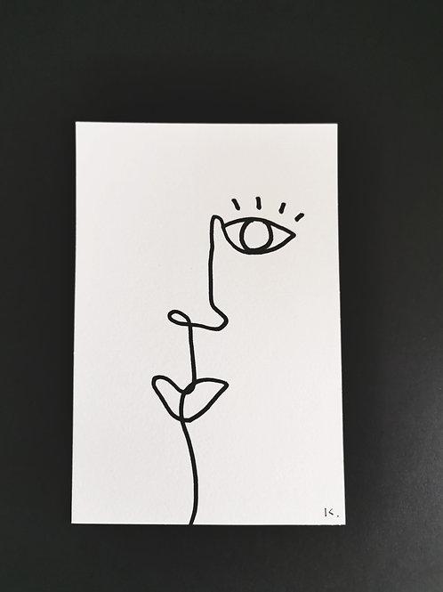 Iris Signatures Poster A6 Line art No.1