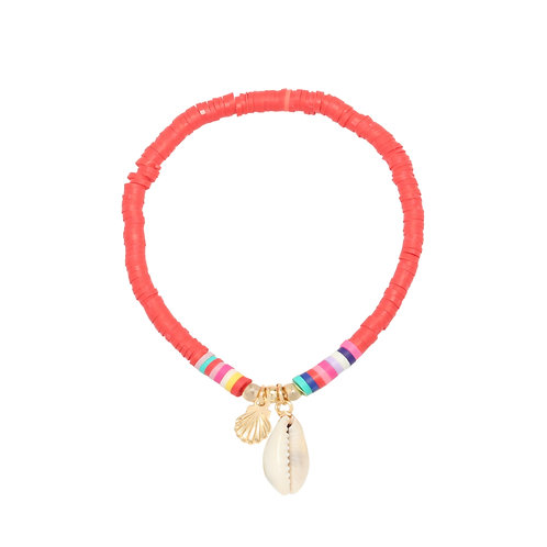 Surf armband 'Perfect Summer' rood