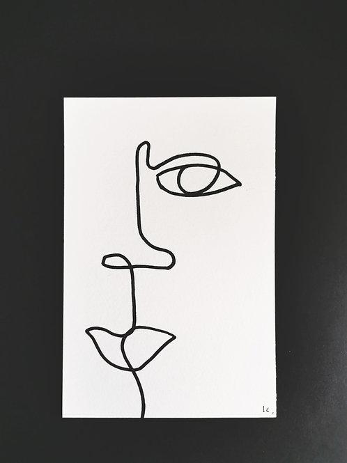 Iris Signatures Poster A6 Line art No.2