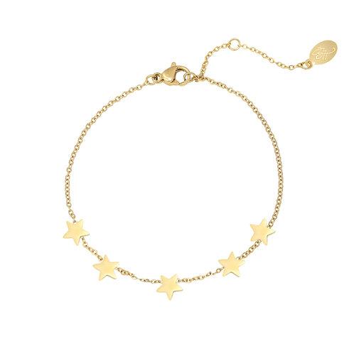 Armband 'Stars' goud