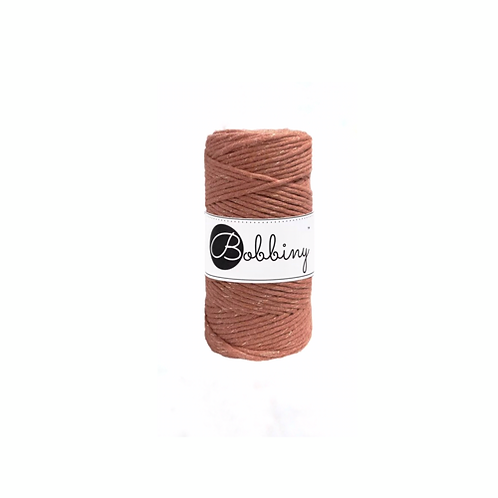 Bobbiny macrame 3mm single - Terracotta Gold
