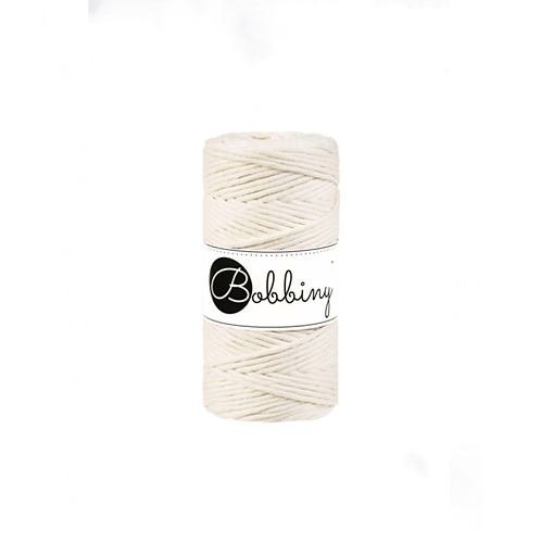 Bobbiny macrame 3mm single - Natural