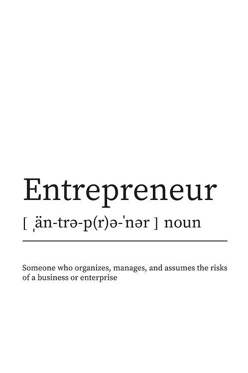 WDesign99 Poster Entrepreneur
