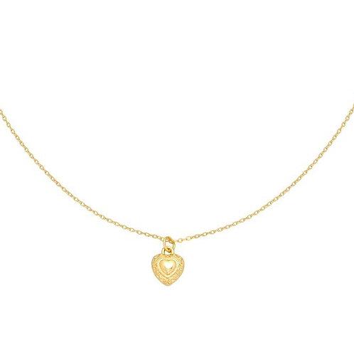 Ketting met hartje 'My Heart' goud