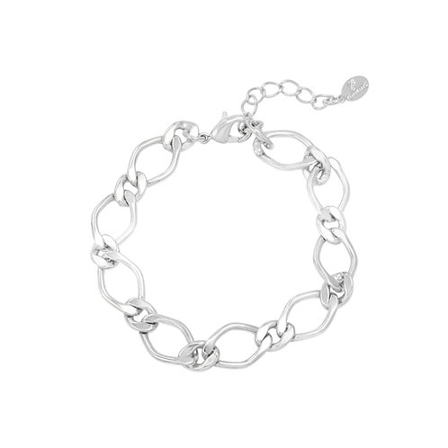 Armband met grote schakels 'Chunky Chain' zilver