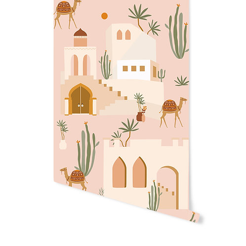Behang Oasis Pink