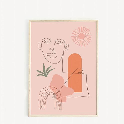 May and Fay Print A3 Sunshine man