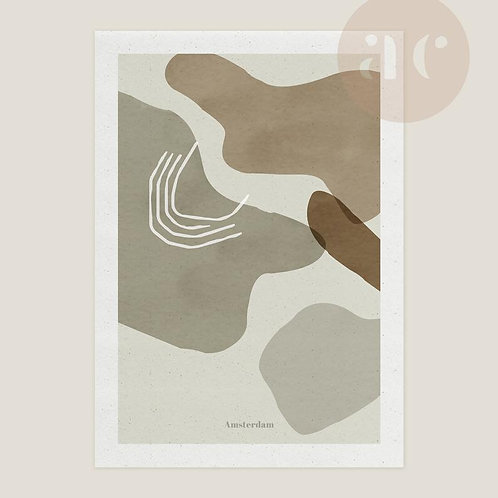 Abstract Cities Print Amsterdam staand