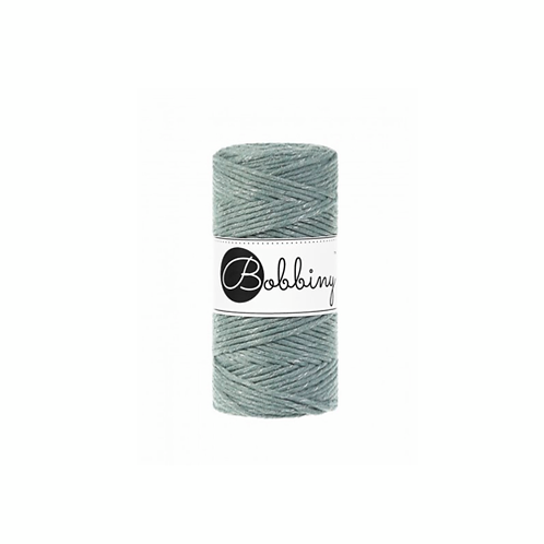 Bobbiny macrame 3mm single - Silvery Laurel