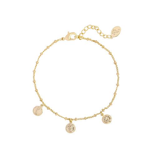 Armband met muntjes 'Coin' goud