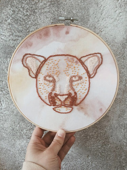 Idylness Embroidery Hoop Leopard