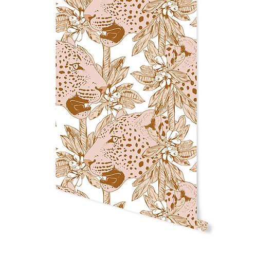 Behang Pinky Leopard