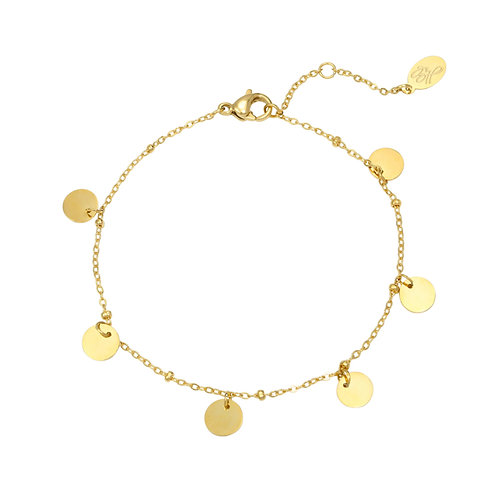 Armband 'Round & Round' goud