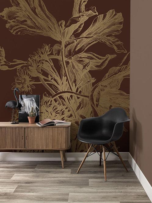 KEK Amsterdam | Goud behang Engraved Flowers MW-025