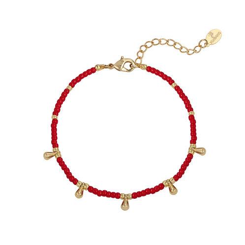 Armband 'Juliette' rood