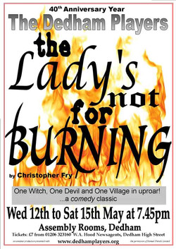 2010 The Lady's Not For Burning Poster