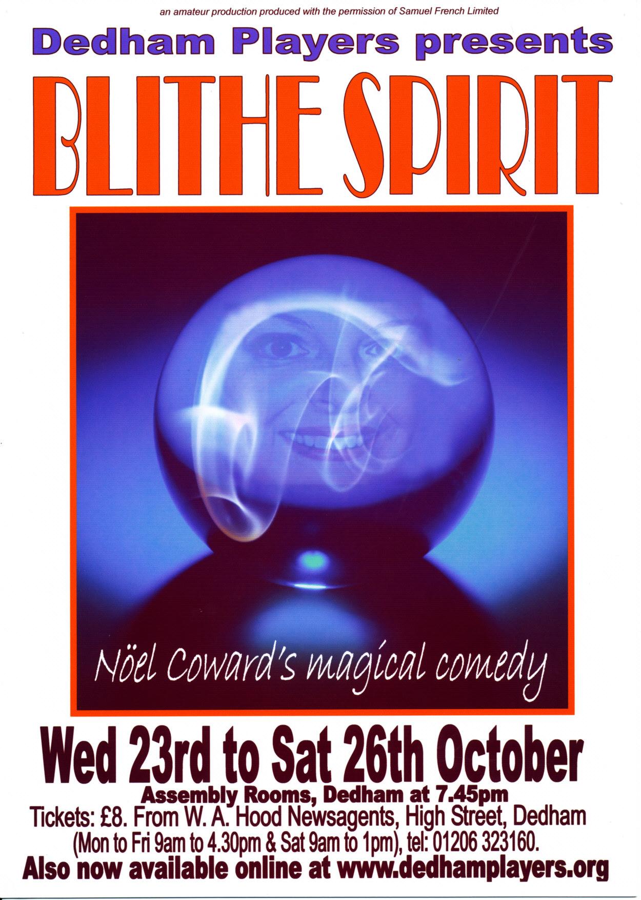 2013 Blithe Spirit Poster