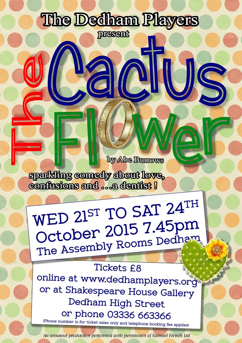 2015 Cactus Flower Poster