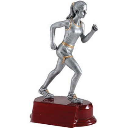 Silver Resin Track Trophy