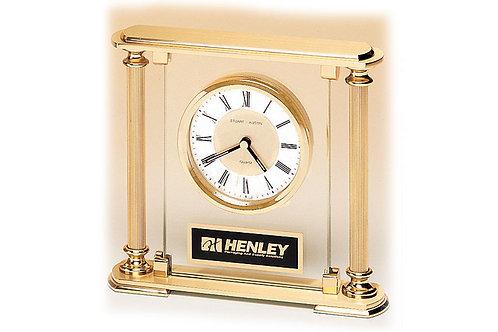 BC9 GLASS/GOLDTONE Quartz Clock