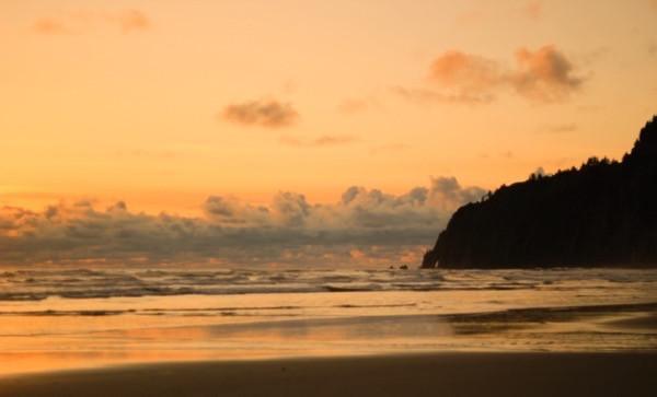 Manzanita Beach Sunset over Neahkahnie Mountain